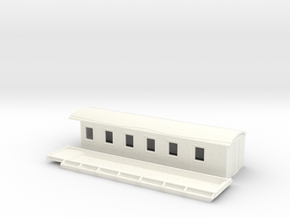 C10 - Swedish passenger wagon in White Processed Versatile Plastic