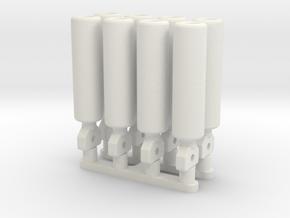 Strebensatz für Kanaldielenverbauplatten in White Natural Versatile Plastic