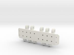 Lr1750 Pads in White Natural Versatile Plastic