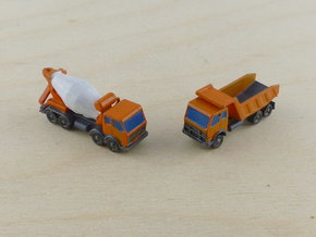 Generic Dumper and Mixer Trucks 1/285 in Smooth Fine Detail Plastic