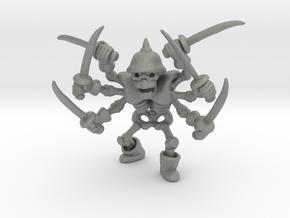 Skeleton Swordsman 42mm miniature fantasy game DnD in Gray PA12