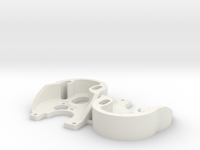 SCX24 outrunner motor plate x2 in White Natural Versatile Plastic