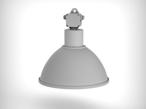 Industrial Lamp 01. 1:24 Scale (x2 Units) in White Natural Versatile Plastic