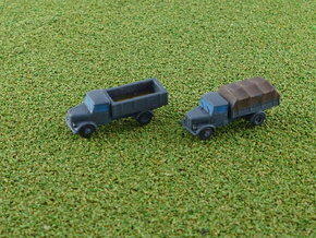 German KHD S3000 Trucks 1/285 in Smooth Fine Detail Plastic