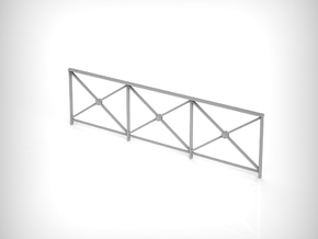Railing 01. 1:24 Scale in White Natural Versatile Plastic