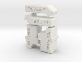 Trumpeter Deck Bench Tool Kit in White Natural Versatile Plastic