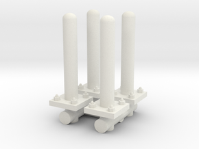 Safety Poles (x4) 1/24 in White Natural Versatile Plastic