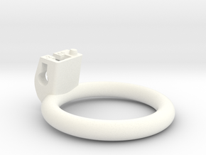 Cherry Keeper Ring - 44mm Flat +2° in White Processed Versatile Plastic