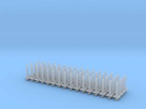 Safety Poles (x64) 1/200 in Smooth Fine Detail Plastic