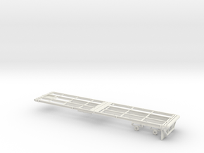 1/64th 40' Oilfield Flatbed Float Trailer  in White Natural Versatile Plastic