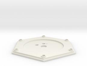 Sarah's Music Box - Base Top Plate in White Natural Versatile Plastic