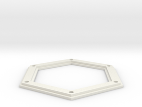 Sarah's Music Box - Roof Top Plate in White Natural Versatile Plastic