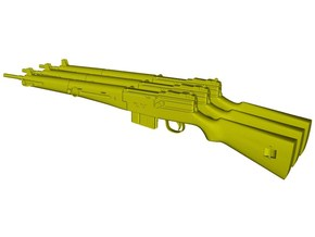 1/12 scale MAS-49 rifles x 3 in Smooth Fine Detail Plastic