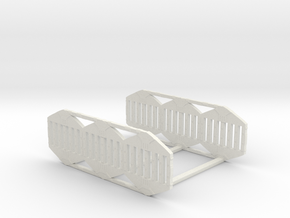 Remmler Array (connected base) in White Natural Versatile Plastic