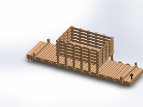 N MOW RAIL AND TIE CAR in Smooth Fine Detail Plastic