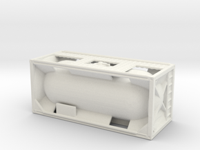 20ft Tank Container 1/160 in White Natural Versatile Plastic