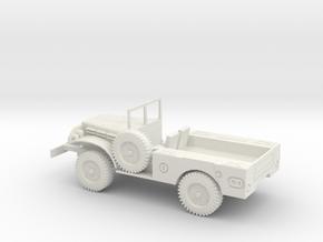 1/48 Scale Dodge WC-51 Truck in White Natural Versatile Plastic