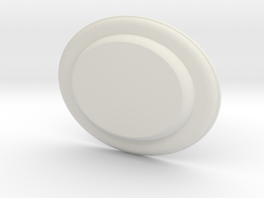 Tin Plate oval in White Natural Versatile Plastic