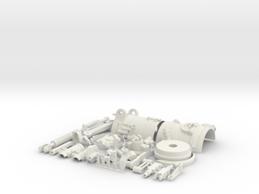 Skymaster F-14 Scale Main Gear Upgrade Part-Part 2 in White Natural Versatile Plastic
