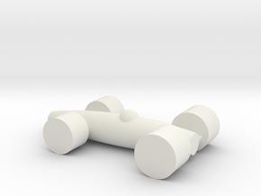 LACORSA Racecar  in White Natural Versatile Plastic