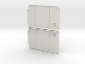 Front Door Panel set in White Natural Versatile Plastic