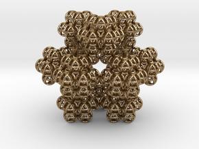 Fractal Vector Equilibriums (Cuboctahedrons)  in Polished Gold Steel