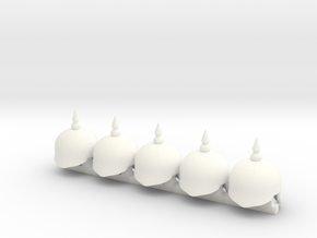 5 x Royal Horseguard in White Processed Versatile Plastic