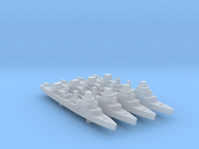 4pk Élan class minesweeper sloops WW2 1:1800 in Smooth Fine Detail Plastic