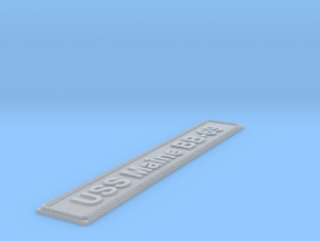 Nameplate USS Maine BB-69 (10 cm) in Smoothest Fine Detail Plastic