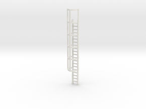 20ft Cage Ladder 1/87 in White Natural Versatile Plastic
