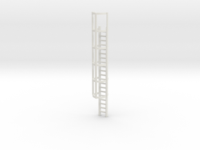 20ft Cage Ladder 1/43 in White Natural Versatile Plastic