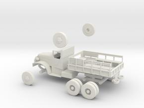 1/72 Scale White 6-ton 6x6 Kit in White Natural Versatile Plastic