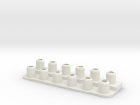 Tool Holder Base in White Natural Versatile Plastic
