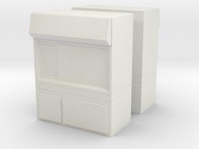 Fume Hood (x2) 1/87 in White Natural Versatile Plastic