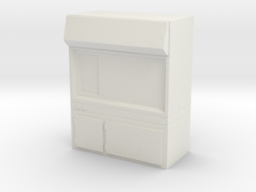 Fume Hood 1/72 in White Natural Versatile Plastic