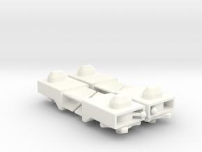 Dummy Twistlock Alfer 12.5 x 7.5 mm. in White Processed Versatile Plastic