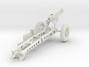 1:18 Pack Artillery Howitzer v7 in White Natural Versatile Plastic