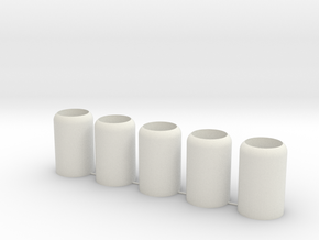 Small Nub - 5 Pack in White Natural Versatile Plastic