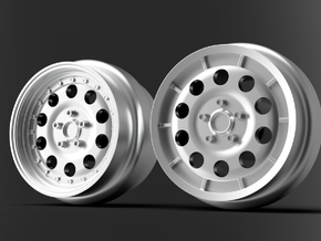 1/64 scale Lancia 037 wheels 8mm Dia - 4 sets in Smoothest Fine Detail Plastic