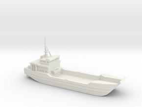 1/400 Scale US ARMY LCU-2000 RUNNYMEADE in White Natural Versatile Plastic