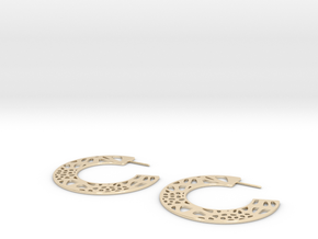 Lace Hoops Earrings in 14k Gold Plated Brass