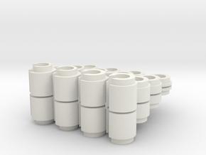 Gabelfederführung oben Clips  in White Natural Versatile Plastic