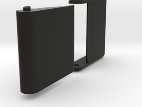 "Slim, folding card holder for 2"" square cards in Black Natural Versatile Plastic"