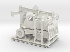 Forklift M4045 with loading frame in White Natural Versatile Plastic: 1:50