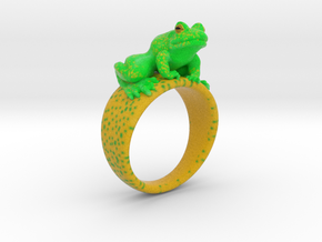 Frog ring size 9 in Natural Full Color Sandstone