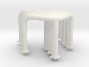 Crash protection 4x in White Natural Versatile Plastic: 1:25