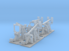 1/300 Oil Well Pumpjack in Smooth Fine Detail Plastic