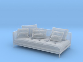 Miniature 1:48 Sofa in Smooth Fine Detail Plastic: 1:48 - O