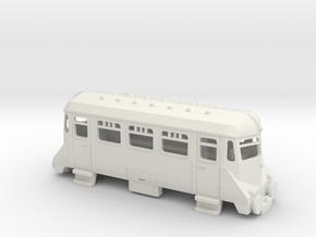 OO9 mini GWR railcar in White Natural Versatile Plastic