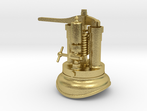 Quarry Hunslet Steam Turret for MAID MARIAN (SM32) in Natural Brass